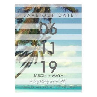 Palmas tropicales de la playa que casan reserva la postales