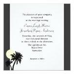 Palmas tropicales, invitación blanco y negro del