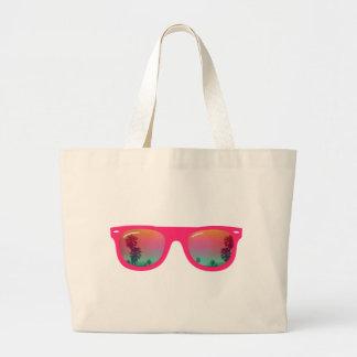Palmas y playa de las gafas de sol bolsa