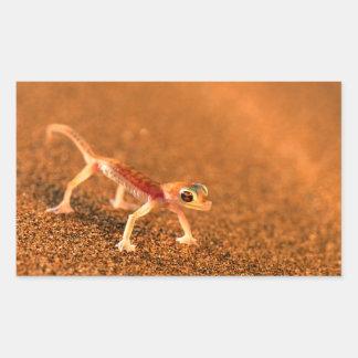 Palmatogecko On Sand Dune, Swakpomund, Erongo Rectangular Sticker