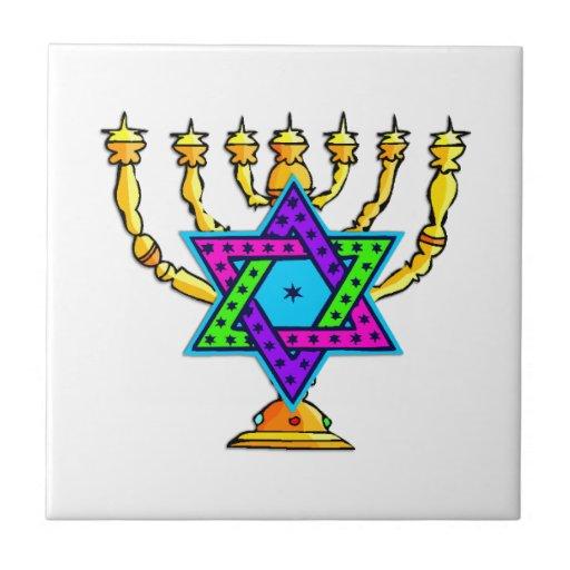 Palmatorias judías azulejo cuadrado pequeño