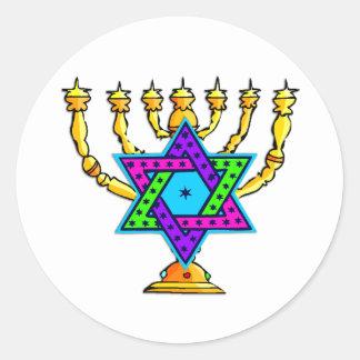 Palmatorias judías pegatina redonda