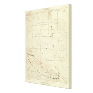 Palmdale quadrangle showing San Andreas Rift Canvas Print