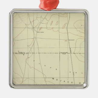 Palmdale quadrangle showing San Andreas Rift Metal Ornament