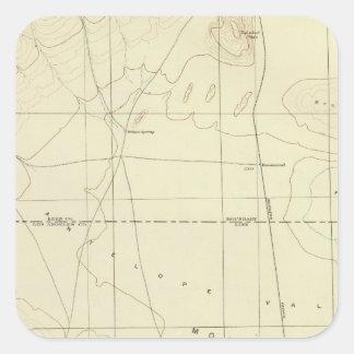 Palmdale quadrangle showing San Andreas Rift Square Sticker