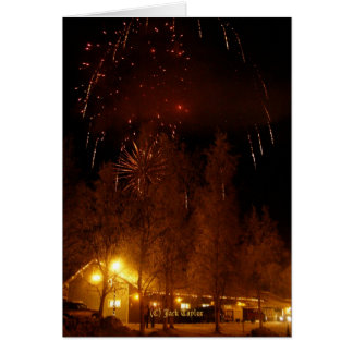 Palmer, Ak Railroad Depot with Fireworks #01 Card