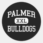 Palmer - Bulldogs - High School - Palmer Texas Classic Round Sticker