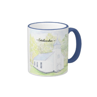 Palmer Chapel Catalochee sky blue trim mug