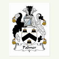 Palmer Family Crest Postcard