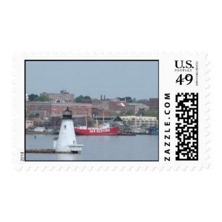 Palmer Island Light, New Bedford--postage Postage Stamp