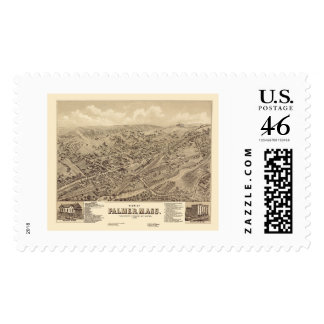 Palmer MA Panoramic Map - 1879 Postage Stamps