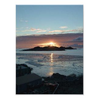 Palmer view sunset photo print
