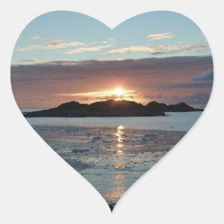 Palmer view sunset heart sticker