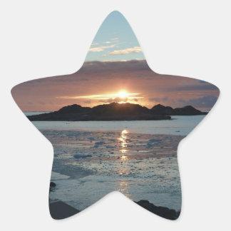 Palmer view sunset star sticker