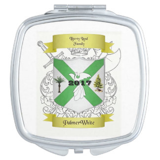 Palmer/White Family Crested Compact Makeup Mirror