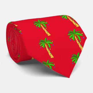 Palmera adornada para el navidad corbata