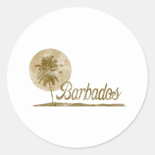Palmera Barbados Etiqueta Redonda