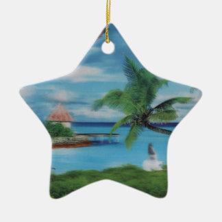 Palmera beach.jpg del coco adorno de cerámica en forma de estrella