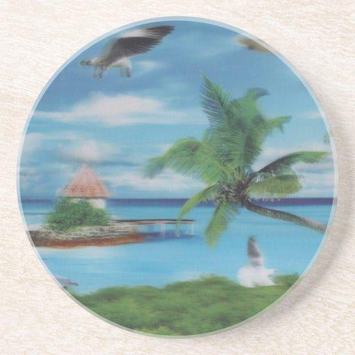 Palmera beach.jpg del coco posavaso para bebida