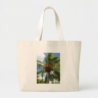 Palmera con cocos bolsa tela grande