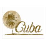Palmera Cuba Tarjeta Postal