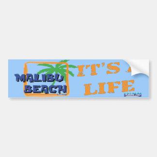 Palmera de la playa de Malibu Pegatina Para Auto