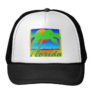 Palmera de la puesta del sol de la Florida Gorra