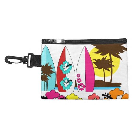 Palmera de las tablas hawaianas de la playa del