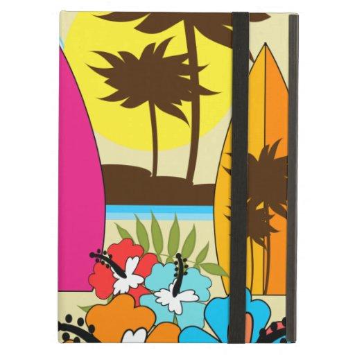 Palmera de las tablas hawaianas de la playa del oc