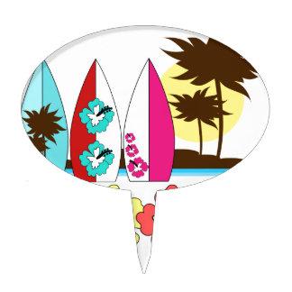 Palmera de las tablas hawaianas de la playa del oc palillos de tarta