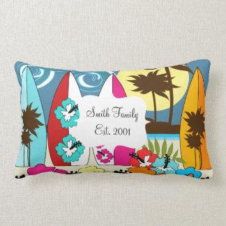 Palmera de las tablas hawaianas de la playa del oc almohada