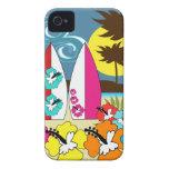 Palmera de las tablas hawaianas de la playa del oc Case-Mate iPhone 4 protectores