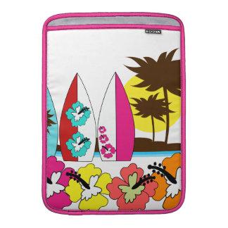 Palmera de las tablas hawaianas de la playa del oc fundas macbook air