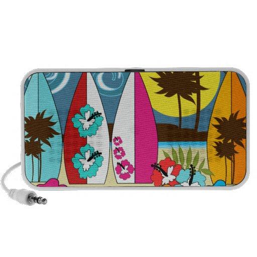 Palmera de las tablas hawaianas de la playa del oc laptop altavoces