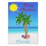 Palmera de las tarjetas de Navidad de la Florida