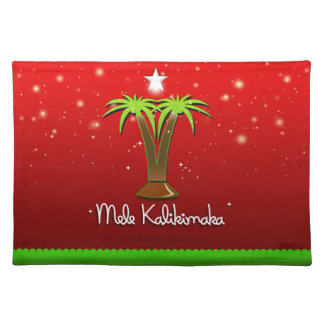 Palmera de Mele Kalikimaka para Navidad Mantel