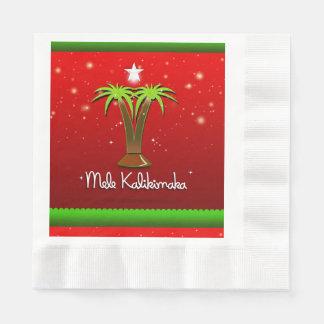 Palmera de Mele Kalikimaka para Navidad Servilletas De Papel