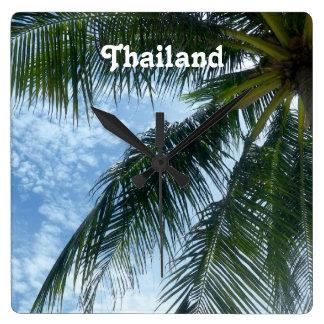 Palmera de Tailandia Reloj Cuadrado