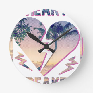Palmera del amante del triturador del corazón de reloj redondo mediano