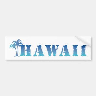Palmera del azul de Hawaii Pegatina Para Auto