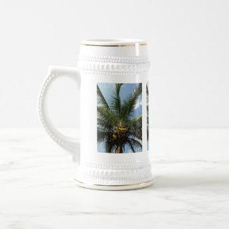 Palmera del coco taza de café