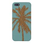 Palmera del estampado leopardo iPhone 5 carcasa