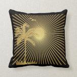 Palmera del oro de Metalllic, Sun y almohada del p