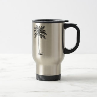 Palmera del vintage taza de viaje de acero inoxidable