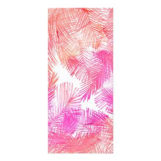 Palmera dibujada mano rosada coralina de moda de tarjetas publicitarias