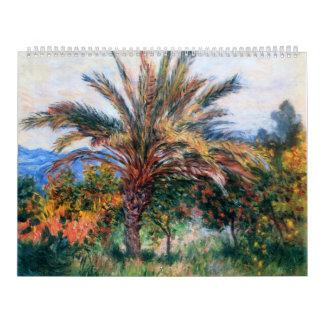 Palmera en Bordighera - Claude Monet Calendarios