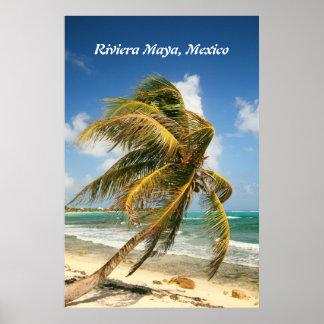 Palmera en el maya de Riviera, poster de México