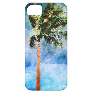 Palmera en una tormenta tropical iPhone 5 fundas