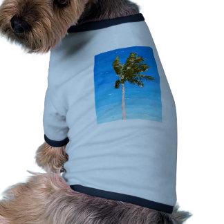 Palmera en viento camisas de perritos