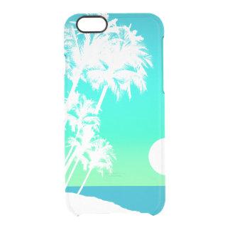Palmera hawaiana de la puesta del sol de Kapaa Funda Clear Para iPhone 6/6S